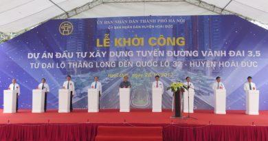 Hà Nội khởi công dự án đường vành đai 3,5