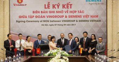 Vingroup và Siemens ký hợp tác về công nghệ