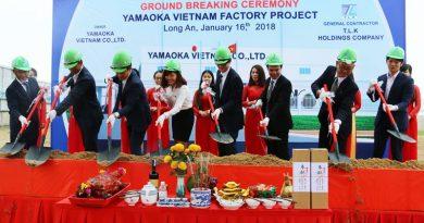 Lễ khởi công xây dựng nhà máy Yamaoka Việt Nam tại KCN Long Hậu