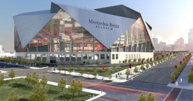 Sân vận động Mercedes-Benz có mái che dạng cánh hoa di động