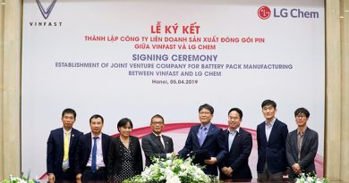 VinFast enters into joint venture with LG Chem to produce battery