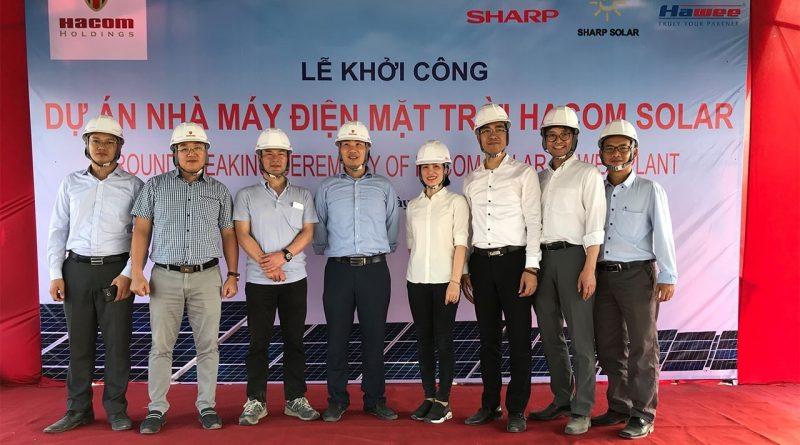 Khởi công dự án nhà máy điện mặt trời Hacom Solar tại Ninh Thuận