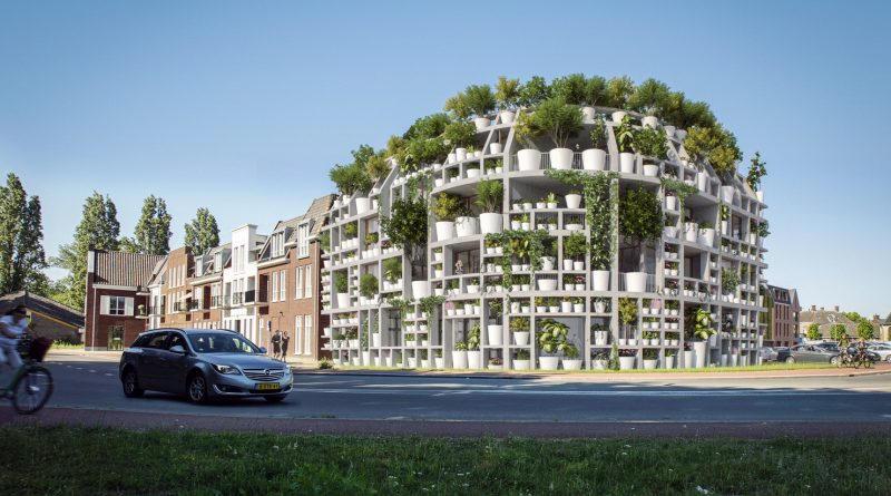 MVRDV Designs Facade of Potted Plants along Dommel River