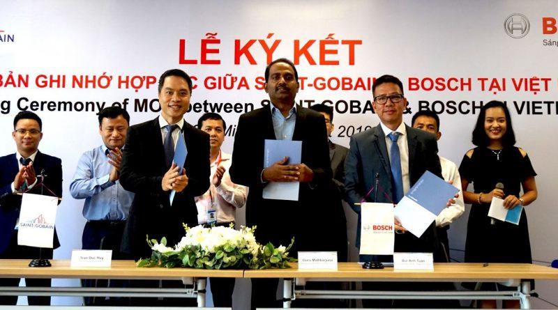 Bosch Việt Nam và Saint-Gobain ký Biên bản Ghi nhớ hợp tác