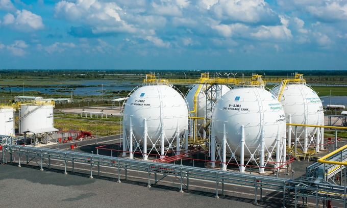 Gas tanks at a PV Gas facility in southern Vietnam. Photo courtesy of PV Gas.
