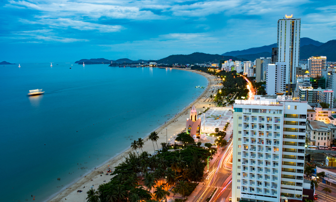 A large number of condotel projects are located in Nha Trang coastal town in the central Khanh Hoa Province. Photo by Shutterstock/Nguyen Phuc Thanh.
