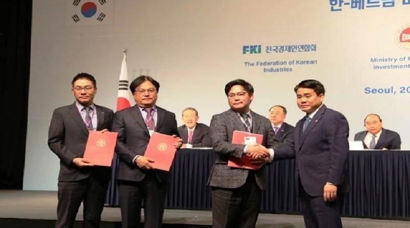 Hà Nội cấp chủ trương, ký ghi nhớ đầu tư hơn 15 tỷ USD với doanh nghiệp Hàn Quốc