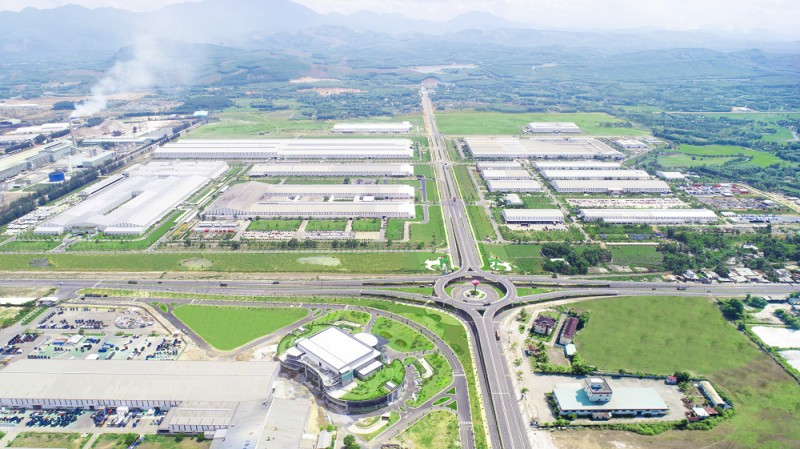 Overview of THACO's factories in Chu Lai Open Economic Zone. — Photo courtesy of THACO