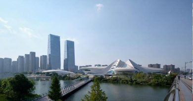 Whipped peaks form Zaha Hadid Architects' Meixihu cultural centre