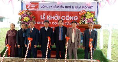 Khởi công xây nhà máy cơ điện tử UHC Việt Nam 100 tỷ