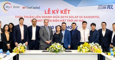 VinaCapital arm sets up solar power JV with industrial parks developer SAIGONTEL