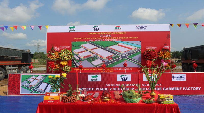 Ground - breaking Ceremony of Wordlon project (phase 2) - High-grade Garment Factory
