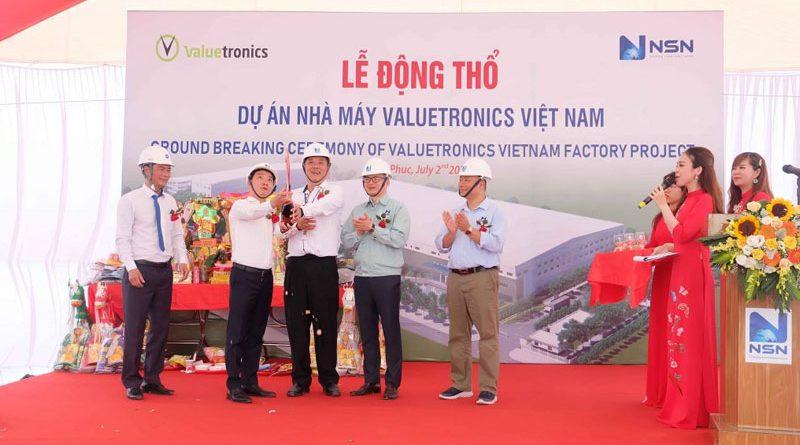 Lễ động thổ dự án Nhà máy Valuetronics Việt Nam