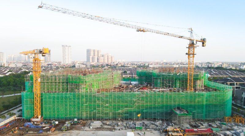 Công trình Park Kiara hoàn thành mẻ bê tông sàn chuyển 2.000 m3
