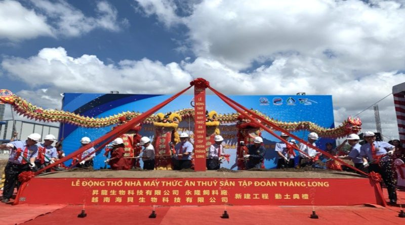 Lễ khởi công xây dựng nhà máy thức ăn thủy sản Tập đoàn Thăng Long
