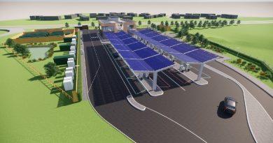 Trạm sạc ô tô chạy hoàn toàn bằng điện đầu tiên trên thế giới