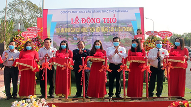 SB3188 2 - Khởi công dự án Khu dân cư nông thôn mới nâng cao xã Đại Thành